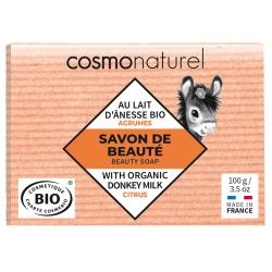 Savon au lait d'ânesse aux huiles essentielles d'Agrumes 100 gr Cosmo Naturel - produit nettoyant pour le corps