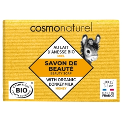 Savon au lait d'ânesse sans Parfum au Miel 100 gr Cosmo Naturel