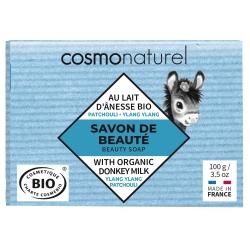 Savon au lait d'ânesse et HE Patchouli Ylang Ylang 100 gr Cosmo Naturel
