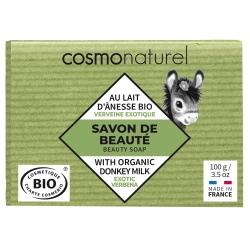 Savon au lait d'ânesse à l'huile essentielle de Verveine 100 gr Cosmo Naturel - produit de nettoyage pour le corps