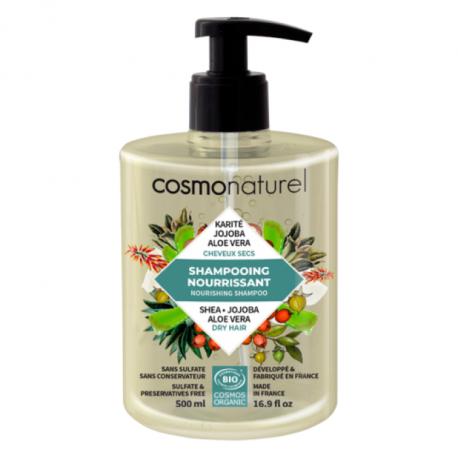 Shampooing bio Cheveux secs Karité Jojoba Aloe 500 ml Cosmo Naturel bio sante senior