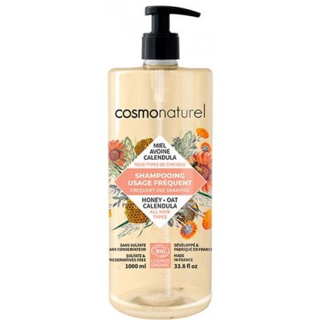 shampooing usage fréquent Miel Calendula Avoine 1 litre Cosmo Naturel - Certifié Nature et Progrès