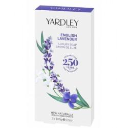 Coffret 3 savons English Lavender  3 x 100 gr Yardley lavande anglaise Bio sante senior