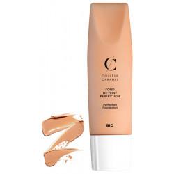 Fond de teint Perfection No 34 Beige orangé 35 ml Couleur Caramel teint lisse et couvrance maquillage bio santé sénior