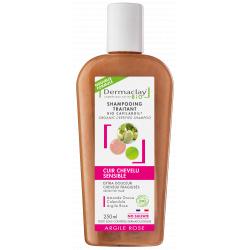 Shampoing bio Extra douceur Cheveux Fragiles et Délicats 250ml Dermaclay volume et densité Bio sante senior