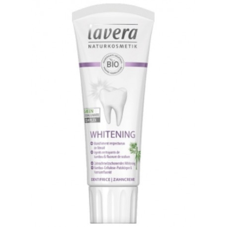 Dentifrice whitening blanchissant bambou fluorure 75 ml Lavera natrue Bio sante senior