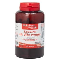 Levure de Riz rouge 600 mg 120 gélules 84g - Nat et Form