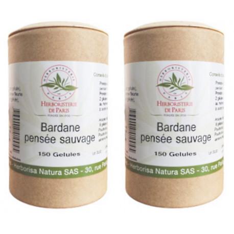 bardane Pensée Sauvage lot de 2 boites 150 gélules Herboristerie de paris Bio Santé Senior