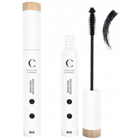 Mascara Révolution No 91 Extra noir 6 ml Couleur Caramel allongeant et effet volume Bio santé sénior maquillage
