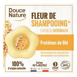 Fleur de Shampooing solide cheveux normaux Sauge Argile jaune 85g Douce Nature hygiène hydratation Bio santé sénior