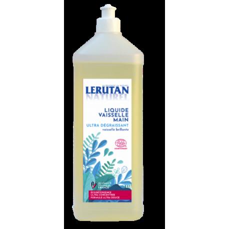 Liquide vaisselle main ultra-concentré senteur citron 500 ml Lerutan - produit d'entretien ménager écologique
