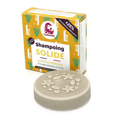 Shampoing solide naturel Cheveux normaux Sapin 55 gr Lamazuna shampooing solide vegan Bio sante senior