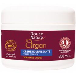 Crème nourrissante visage corps huile d'Argan beurre de Karité 200ml Douce Nature