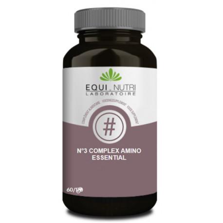 No 3 Complex Amino Essential 60 gelules Equi - Nutri Bio sante senior acides aminés essentiels