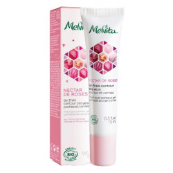 Gel frais contour des yeux Nectar de rose 15 ml Melvita anti poches et anti-âge Bio santé sénior