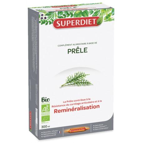 Prêle Bio 20 ampoules de 15 ml Super diet minéraux silicium organique Bio santé sénior