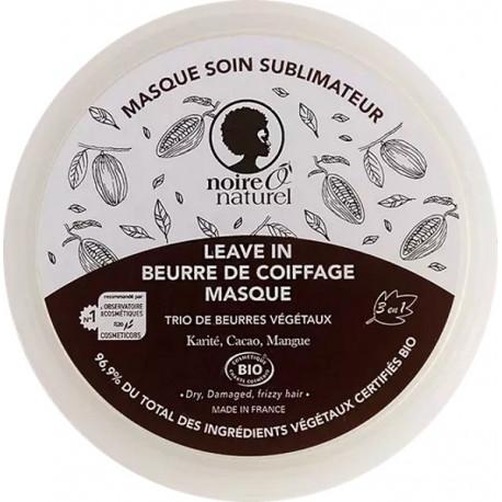 Masque soin sublimateur Cacao Mangue Karité cheveux frisés à crépus 200ml Noire O Naturel Bio santé sénior