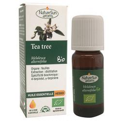 Huile essentielle de Tea Tree Bio Flacon compte gouttes 10ml Naturesun' Aroms