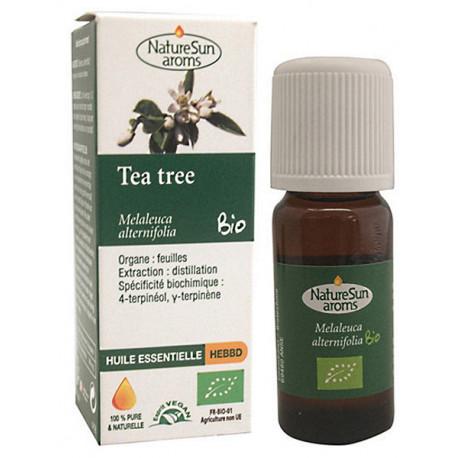 Tea Tree Bio Flacon compte gouttes 10ml Naturesun' Aroms huile essentielle bio