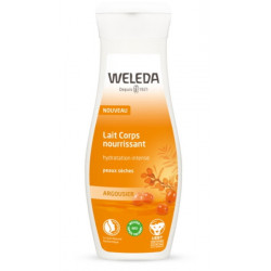 Lait Corps nourrissant Argousier peaux sèches 200 ml Weleda hydratation protection Bio sante senior