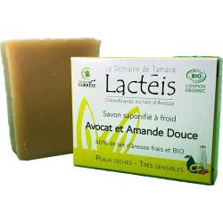 Savon Avocat et Amande douce à 40pc de lait d'ânesse Le Domaine de Tamara karité peaux sensibles Bio santé sénior