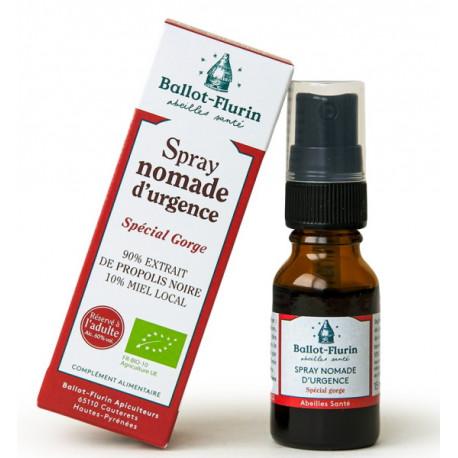 Spray nomade d'urgence à la propolis noire 15 ml Ballot Flurin propolis noire immunité Bio santé sénior
