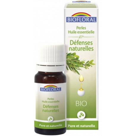 Perles d'huiles essentielles complexe Défenses naturelles 20ml Biofloral immunité fatigue Bio santé sénior