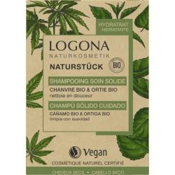 Shampooing soin solide chanvre Ortie Bio 60gr Logona nettoie et fait briller Bio santé sénior