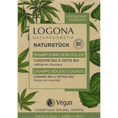 Shampooing soin solide chanvre Ortie Bio 60gr Logona