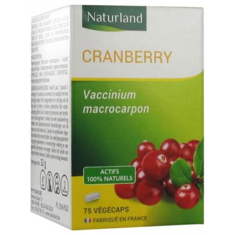 Cranberry 75 Gélules Végécaps Naturland trouble urinaire, biosantesenior.fr