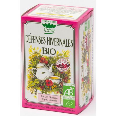 Tisane Défenses hivernales bio 32g Romon Nature défenses naturelles thym cannelle Bio santé sénior