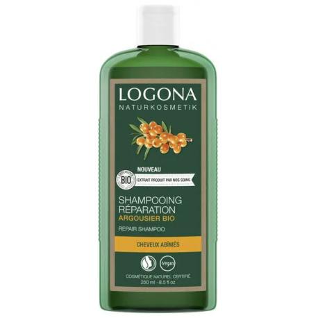 Shampooing réparateur Argousier Bio 250 ml Logona fatigue capillaire cheveux abimés Bio santé sénior