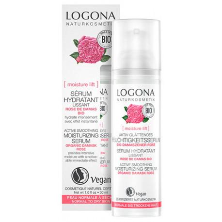 Sérum lissant rose de Damas bio Kalpariane 30ml Logona - cosmétique biologique peau sèche Bio santé sénior