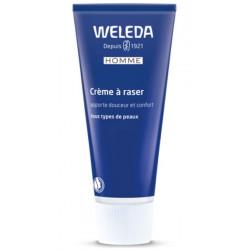 Crème à raser adoucissante peaux sensibles 75ml Weleda - produit d'hygiène bio