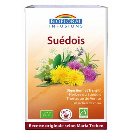 Infusion Elixir du Suédois 59 plantes sans alcool dépuratif 24gr Biofloral dépuratif Bio sante senior
