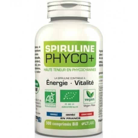 Spiruline Bio Phyco+ 500 comprimés lt labo