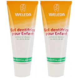 Duo Gel dentifrice enfant dents de lait 2 x 50ml Weleda dentifrice bio santé senior