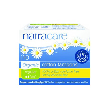 10 Tampons normaux sans applicateur Natracare