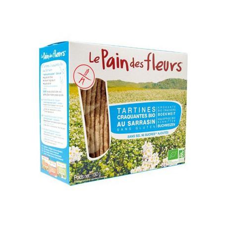 Tartines craquantes au Sarrasin bio sans sel ni saccharose ajoutés 150 gr Le Pain des Fleurs - sans gluten