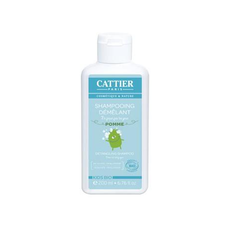 Shampoing démêlant enfants ne pique pas les yeux - Pomme 200 ml Cattier