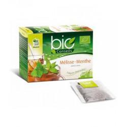 Infusion chaude ou froide Mélisse Menthe arôme citron bio 20 sachets 24g