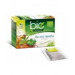 Infusion chaude/froide Thé vert Menthe Bio pour une Digestion légère 20 sachets 30g - Bio Conseils