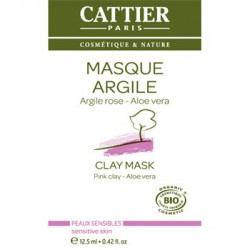 Masque argile rose Aloe vera sachet unidose de 12.5 ml Cattier