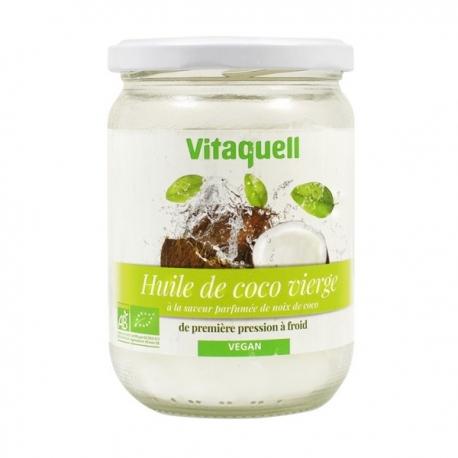 Huile de coco vierge Plaisir culinaire et soin corporel 400gr Vitaquell
