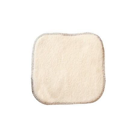La débarbouillette 100% coton biologique 20 X 20 cm Lulu Nature lingette nettoyante bio sante senior