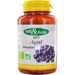 Açaï antioxydant 200 gélules - Nat et Form