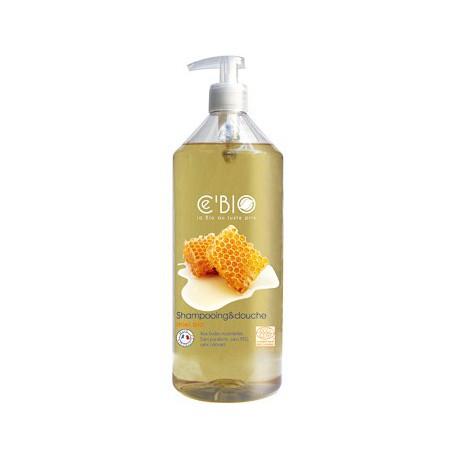 Shampooing douche Miel 1Litre C'BIO - shampooing bio - bio santé senior