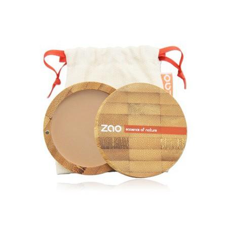 Poudre Compacte 302 Beige Orangé 9gr Zao Make up poudre libre matifiante bio santé sénior