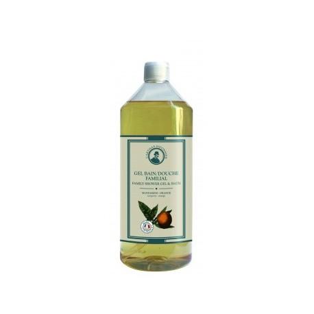 Gel bain douche familial Mandarine Orange 1 litre L'artisan savonnier