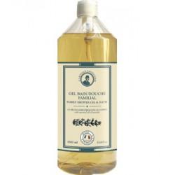 Gel bain douche familial à l'huile essentielle de Lavandin L'Artisan savonnier - Ecocert.